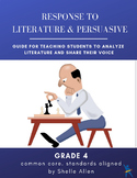 Response to Literature & Persuasive Writing 4th Grade Common Core Writing Lady