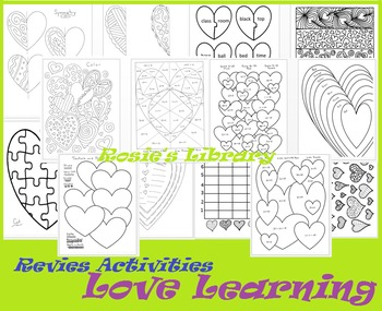 Review Activities with a Love Learning Theme