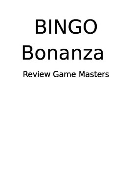 4th Grade Review BINGO Games (Science and Social Studies)
