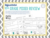 4th Grade Review Differentiated Weekly Math Work