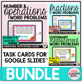 4th Grade Review Word Problems Google Classroom™ | 5th Gra