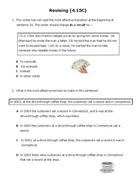 4th Grade Revising and Editing Practice (4.15C & 4.15D)