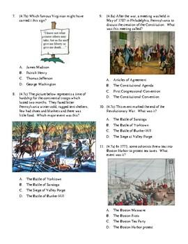 4th Grade Revolutionary War Unit Test
