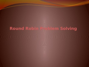 4th Grade Round Robin Problem Solving