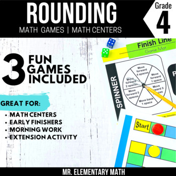 4th Grade Rounding Games & Centers