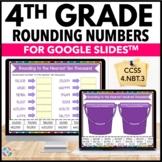 4th Grade Rounding Numbers Digital Practice {4.NBT.3} - Go