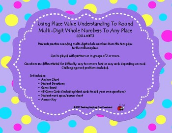 4th Grade ~ Rounding Numbers to Any Place Value Game