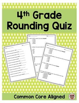 4th Grade Rounding Quiz