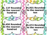 4th Grade Rounding Task Cards