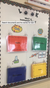 4th Grade - SC State Standards Posters- All Subjects