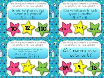 4th Grade SPANISH Math PowerPoint Games MEGA Bundle