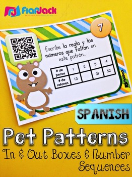 4th Grade SPANISH Math QR Code Task Cards Bundle