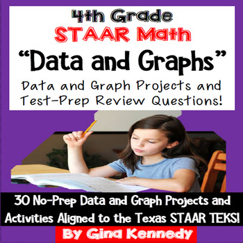 4th Grade STAAR Math Data and Graphs,30 Enrichment Project