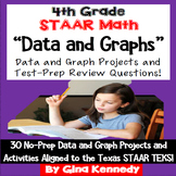 4th Grade STAAR Math Data and Graphs,30 Enrichment Projects & Test-Prep Problems