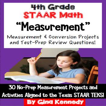 4th Grade STAAR Math Measurement & Conversions Enrichment
