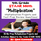 4th Grade STAAR Math Multiplication, 30 Enrichment Projects and 30 Problems