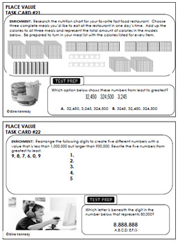4th Grade STAAR Math Place Value, 30 Enrichment Projects & 30 Test-Prep Problems