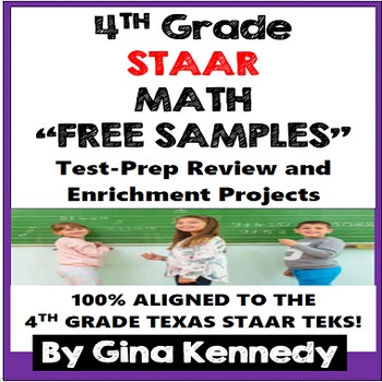 4th Grade STAAR Math Problem Solving and Enrichment Projects, FREE SAMPLES!