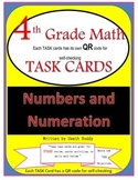 4th Grade-Numbers and Numeration TASK Cards (With QR codes)