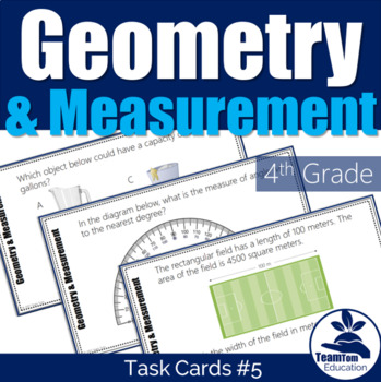 4th Grade STAAR Math Task Cards #5