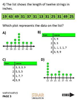 4th Grade STAAR Math Test EXAM 2017 Practice Test fourth
