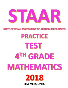 4th Grade STAAR Math Test Practice Exam 2018 fourth mathematics
