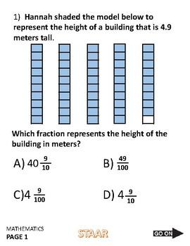 4th Grade STAAR Math Test Practice Exam 2018 fourth mathematics