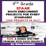 4th Grade STAAR Math Test-Prep & Enrichment Projects BUNDL