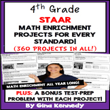 4th Grade STAAR Math Projects for all TEKS, Enrichment & Test-Prep All Year!