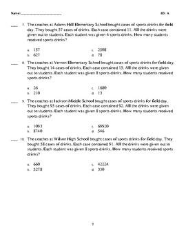 4th Grade STAAR Practice TEK 4.4D