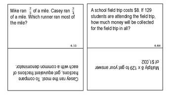 4th Grade STAAR Prep Flash Cards