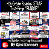 4th Grade STAAR Reading Test-Prep and Reading Skill Practice BUNDLE!