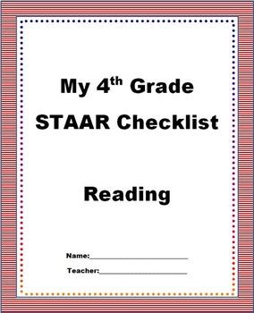 4th Grade STAAR Reading Checklist