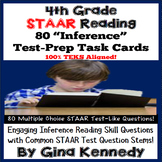 4th Grade STAAR Reading Inference Test-Prep Task Cards