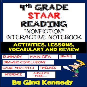 4th Grade STAAR Reading Interactive Notebook! Passages, Activities & More!