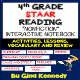 4th Grade STAAR Reading Interactive Notebook! Passages, Ac
