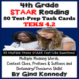 4th Grade STAAR Reading Multiple Meaning, Context Clues Test-Prep Task Cards