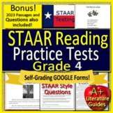 4th Grade STAAR Test Prep Practice Tests Reading Review Bundle