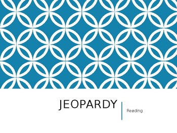3rd and 4thSTAAR Reading Review Jeopardy