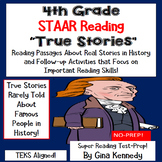 4th Grade STAAR Reading, Test-Prep Passages About True Stories in History