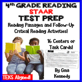 4th Grade STAAR Reading Test-Prep Passages, Critical Thinking Task Cards!