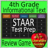 4th Grade STAAR Test Prep Reading Informational Text Review Game