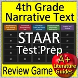 4th Grade STAAR Test Prep Reading Literature and Narrative Review Game