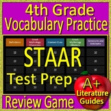 4th Grade STAAR Test Prep Vocabulary and Mythology Allusions Game Reading Review