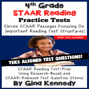 Staar reading passages 4th teaching resources teachers pay teachers 4th grade staar reading practice tests aligned review fandeluxe Gallery