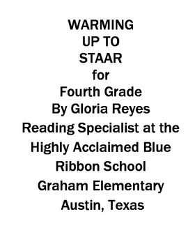 4th Grade STAAR Reading:  Warming Up  to STAAR Reading