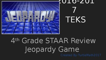 4th Grade STAAR Review Jeopardy Game - New TEKS - 2017