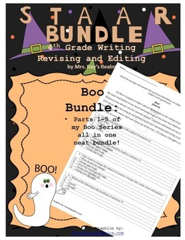 Boo Bundle!-STAAR Writing Revising and Editing Passages