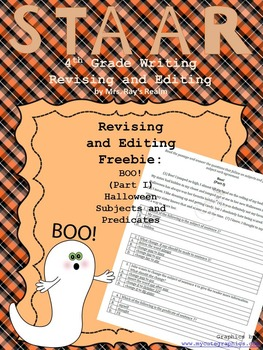 Boo!-Part I Freebie-STAAR Revising and Editing Passage