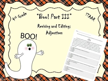 Boo Part III-STAAR Writing Revising and Editing Passage
